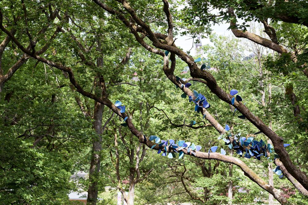 Fjärilsträd-konst