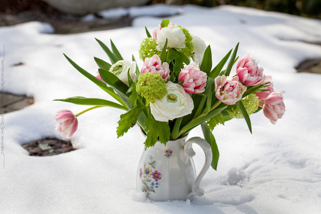 Påskbukett - Glad Påsk med tulpaner och olvon